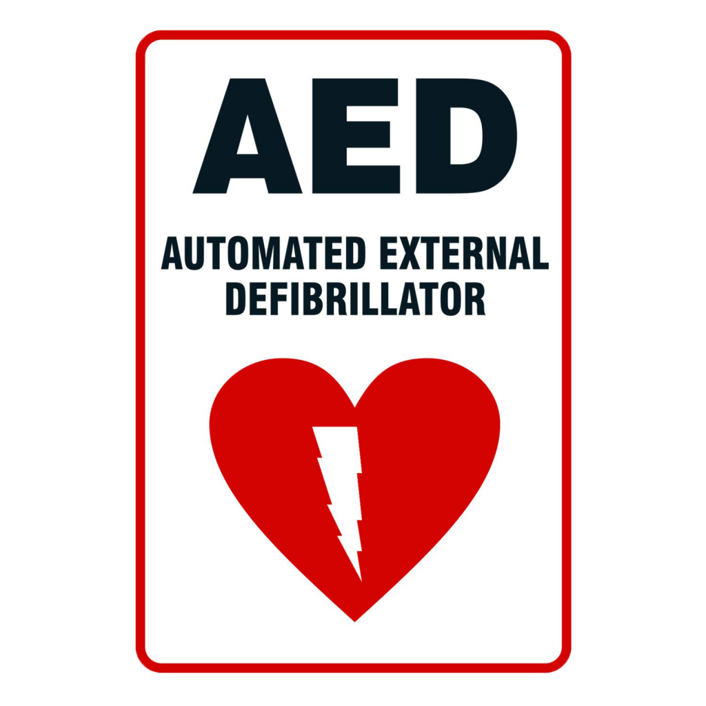 AED's hospital sign